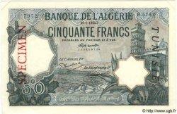 50 Francs TUNISIE  1924 P.09s pr.NEUF