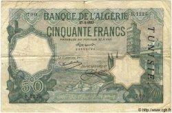 50 Francs TUNISIE  1933 P.09 TB
