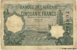 50 Francs TUNISIE  1933 P.09 B à TB