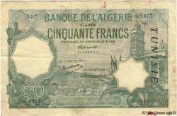 50 Francs TUNISIE  1936 P.09 TB