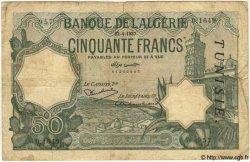 50 Francs TUNISIE  1937 P.09 pr.TB