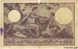 100 Francs TUNISIE  1929 P.10a TB