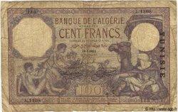 100 Francs TUNISIE  1933 P.10b AB