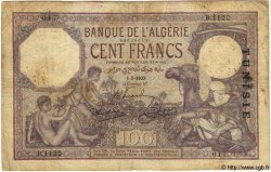 100 Francs TUNISIE  1933 P.10b B