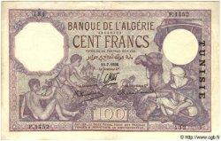 100 Francs TUNISIE  1936 P.10c TTB