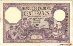 100 Francs TUNISIE  1938 P.10c pr.TTB
