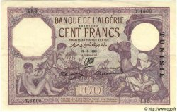100 Francs TUNISIE  1938 P.10c SUP