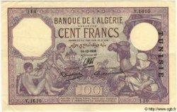 100 Francs TUNISIE  1938 P.10c TTB+ à SUP