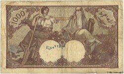 1000 Francs TUNISIE  1938 P.11b B+