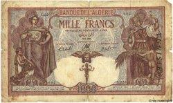 1000 Francs TUNISIE  1939 P.11b B