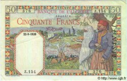 50 Francs TUNISIE  1939 P.12a SUP