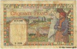 50 Francs TUNISIE  1939 P.12a B+