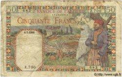 50 Francs TUNISIE  1941 P.12a B+
