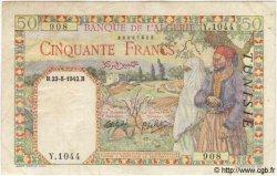 50 Francs TUNISIE  1942 P.12a TB