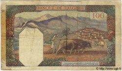100 Francs TUNISIE  1940 P.13a B à TB