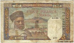 100 Francs TUNISIE  1941 P.13a B