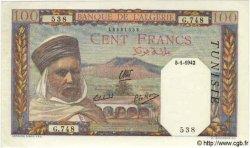 100 Francs TUNISIE  1942 P.13a pr.NEUF