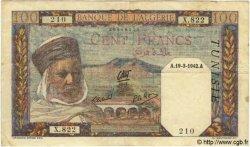 100 Francs TUNISIE  1942 P.13b TTB