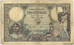 500 Francs TUNISIE  1938 P.14 B+