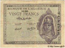 20 Francs TUNISIE  1945 P.18 TTB