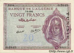 20 Francs TUNISIE  1945 P.18 SUP