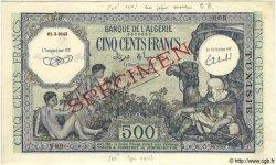 500 Francs TUNISIE  1943 P.19s pr.NEUF