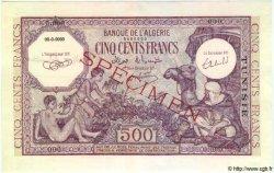500 Francs Violet TUNISIE  1938 P.19s NEUF
