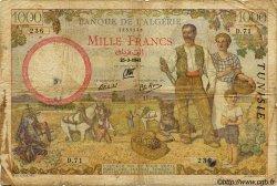 1000 Francs TUNISIE  1941 P.20a B