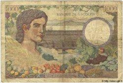 1000 Francs TUNISIE  1941 P.20a B+ à TB