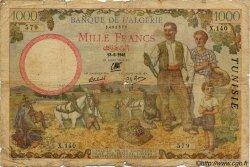 1000 Francs TUNISIE  1941 P.20a AB