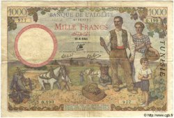1000 Francs TUNISIE  1941 P.20a TTB