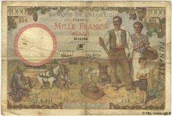 1000 Francs TUNISIE  1941 P.20a B à TB