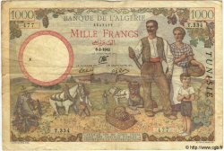 1000 Francs TUNISIE  1942 P.20a pr.TB