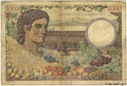 1000 Francs TUNISIE  1942 P.20a B à TB