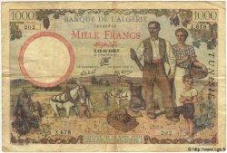 1000 Francs TUNISIE  1942 P.20a TB+