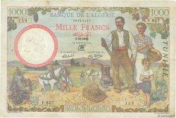 1000 Francs TUNISIE  1942 P.20a TTB