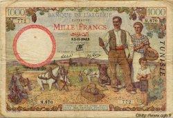 1000 Francs TUNISIE  1942 P.20b TB