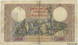 5000 Francs TUNISIE  1942 P.21 pr.TB
