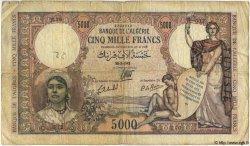 5000 Francs TUNISIE  1942 P.21 B+