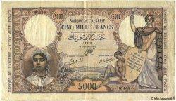 5000 Francs TUNISIE  1942 P.21 TB