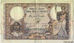 5000 Francs TUNISIE  1942 P.21 TB+