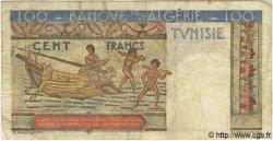 100 Francs TUNISIE  1947 P.24 pr.TB