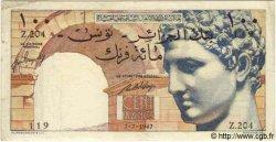 100 Francs TUNISIE  1947 P.24 TTB