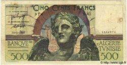 500 Francs TUNISIE  1947 P.25 TB+