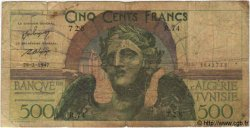 500 Francs TUNISIE  1947 P.25 B+