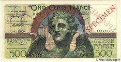 500 Francs TUNISIE  1947 P.25s NEUF