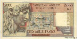 5000 Francs TUNISIE  1947 P.27s SUP