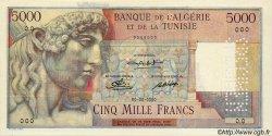 5000 Francs TUNISIE  1947 P.27s NEUF