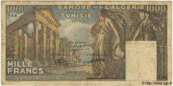 1000 Francs TUNISIE  1950 P.29a B+