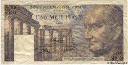 5000 Francs TUNISIE  1950 P.30 TB
